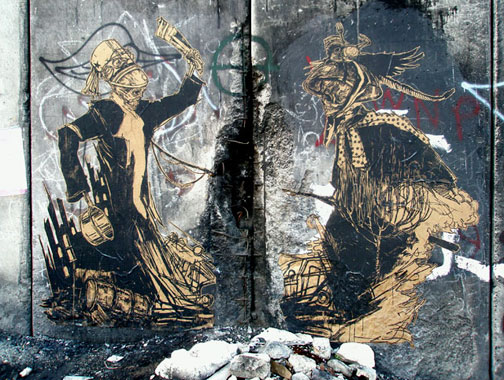 Swoon, Santa's Ghetto Bethlehem, 2007