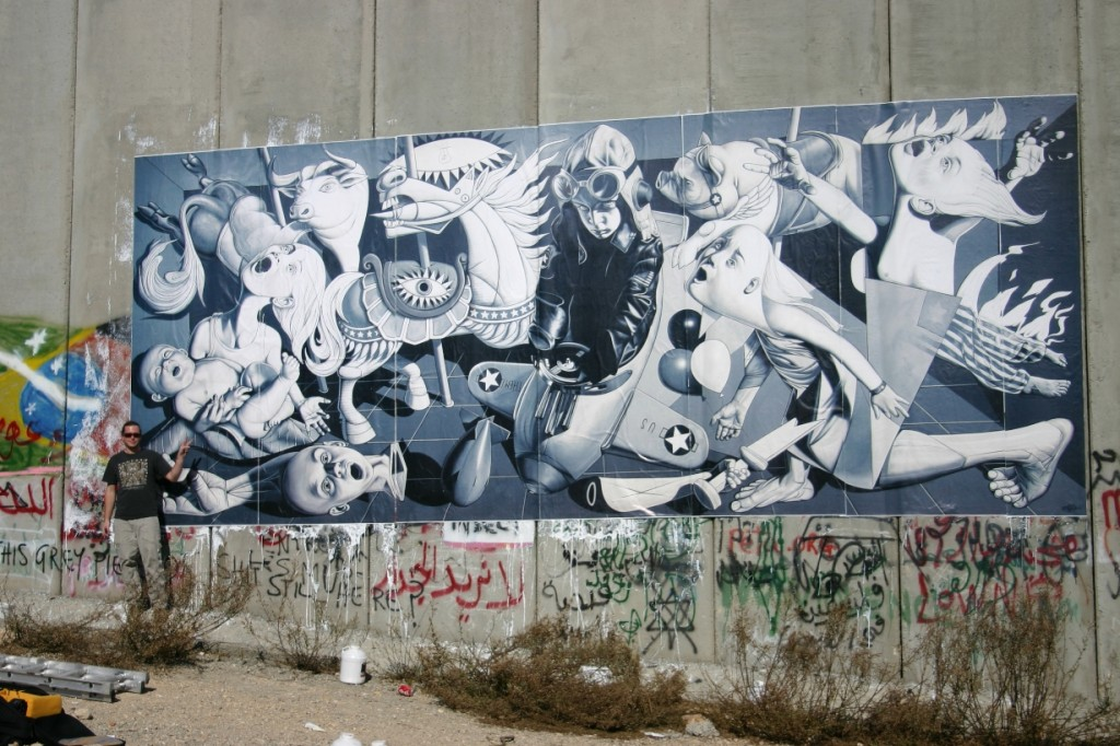 Ron English, Grade School Guernica, Santa's Ghetto Bethlehem, 2007