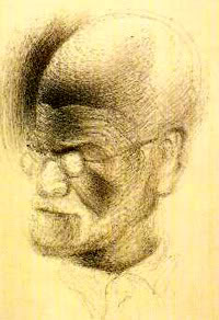 Salvador Dali, Sketch of Freud