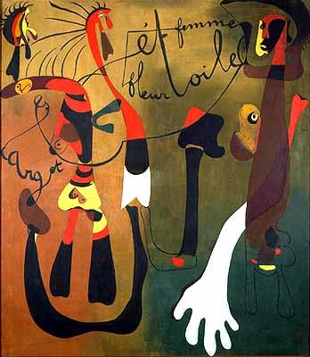 Joan Miro, Escargot-Femme-Fleur-Toile,1924