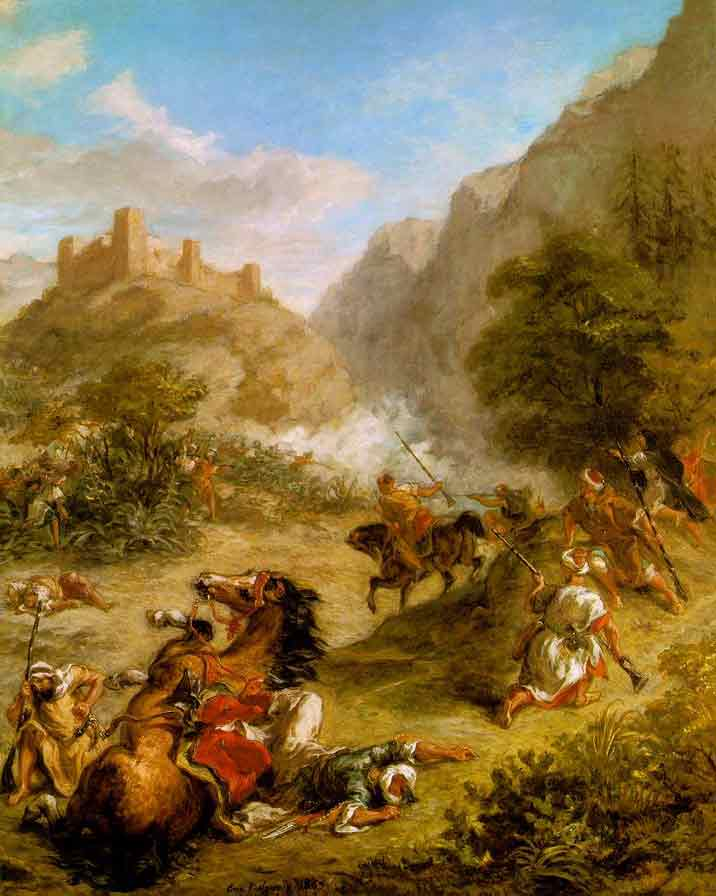 Delacroix. Fight Between Arabs in the Mountains aka The Tax Collection ;1863
