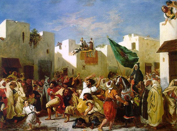 Delacroix. The Fanatics of Tangier. ( 1836 )