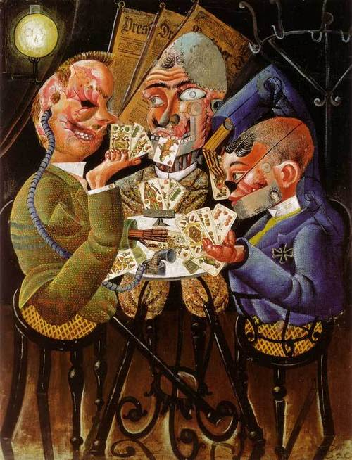 Otto Dix, Card Playing War Cripples, 1920