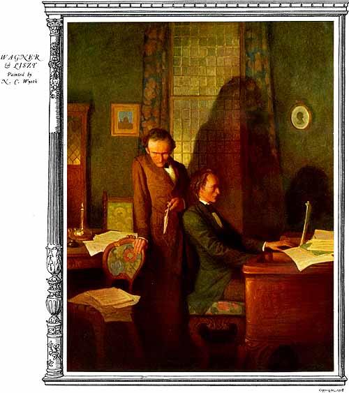 Liszt and Wagenr. N.C. Wyeth ( 1882-1945 )