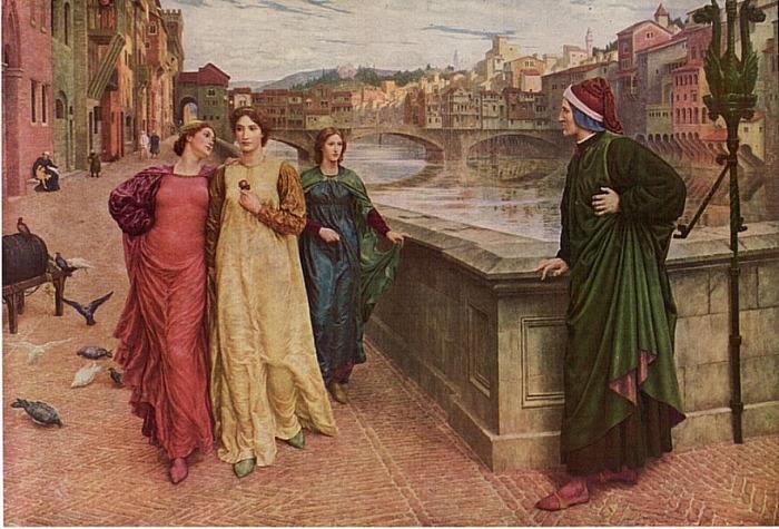 Henry Holiday, Dante and Beatrice, 1883. Painting indicates the saccharine extremes to which art could go.