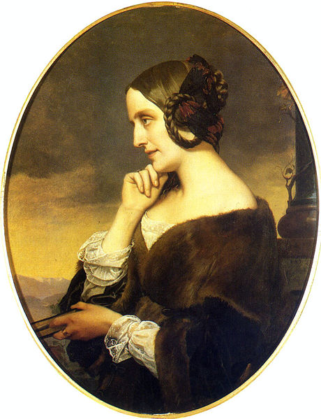 ''Marie d'Agoult (1805 - 1876) - Also known as Countess Marie d'Agoult, she was a German writer using the pen name Daniel Stern. Marie fell in love with Franz Liszt in 1833. During that time, she was married to Comte Charles d'Agoult but soon left her husband to be with Liszt. Marie and Liszt had three children but ended their relationship in 1844.''