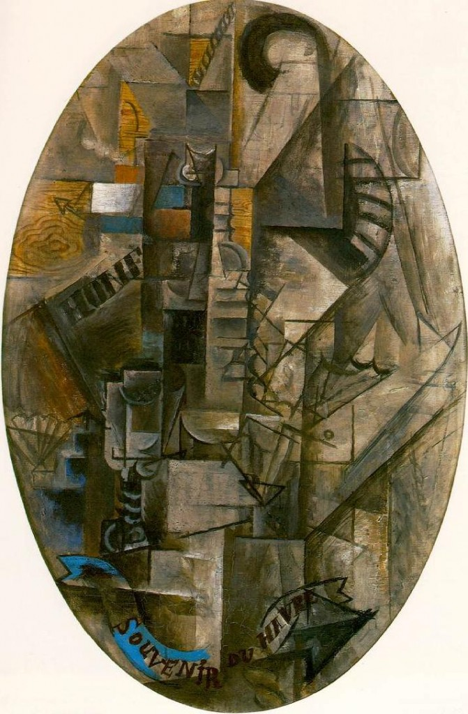 Picasso. Souvenir de Havre. 1912. By 1912, Picasso's analytical phase of an aesthetic revolution was complete. The refinement and the often unconscious absorption of cubism's principles have occupied artists ever since.