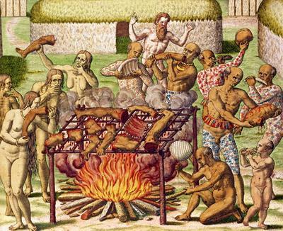 """Résultat de recherche d'images pour """"gravure cannibales théodore de bry"""""""