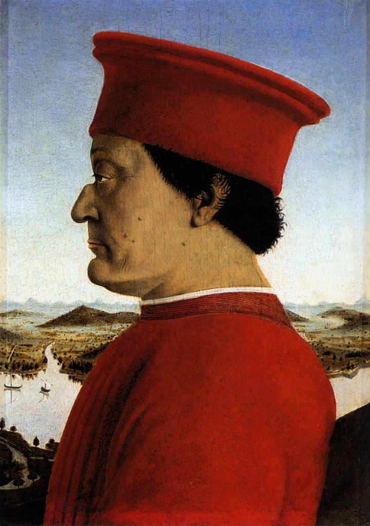 Piero della Francesca, Portrait of Frederigo da Montefeltro. 1472