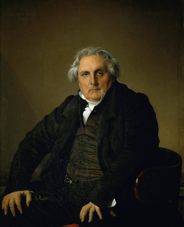 Ingres, Monsieur Bertin, 1832.