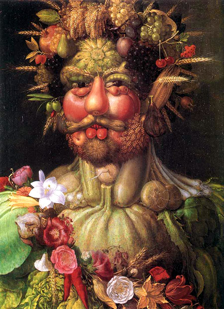 Christina also owned Guiseppe Arcimboldo's The Gardener, a fantasy of fruits and flowers transformed into a human being