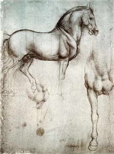 ''Artists working on today's graphical software rarely leave any sketches, unlike Leonardo. In fact, most of the work between conception and realisation is erased from the layers as soon as the final project is finished.  As a future art historian, I am left wondering what will be used in 50 years to trace back the history of today's works of art?''