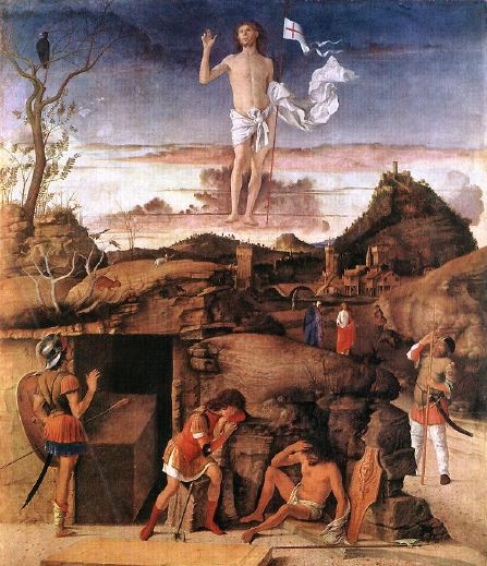 ''Painting: Giovanni Bellini, Resurrection of Christ, 1475-79. Staatliche Museen, Berlin.''