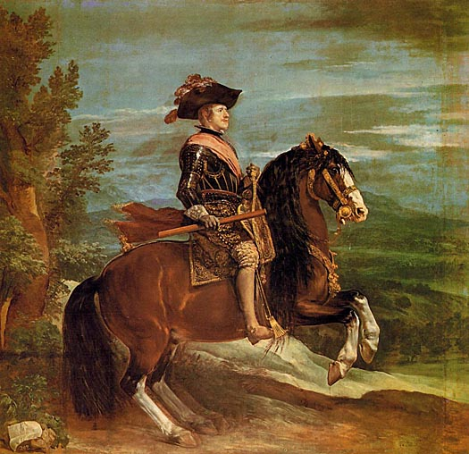 Velasquez. Philip IV on Horesback. 1634-35