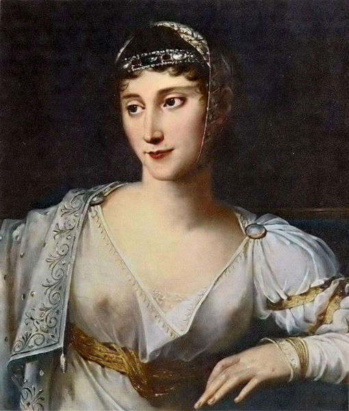 '' Pauline was Napoleon's favorite sister. He made her a Princess of France and a Princess and Duchess of Guastalla. She was kind of a wild child and had numerous affairs and trysts. Eventually, she married into the rich Italian Borghese family and furthered her ego by using her ladies-in-waiting as footstools.''