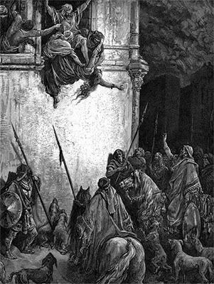 """Gustave Dore. ''Bishop Ulfilas, in the fourth century, undertook the task of translating the Bible into the Gothic language with a curious omission: he left out the book of Kings. The Goths, in his opinion, were already too fond of fighting, and """"needed in that matter the bit, rather than the spur."""" I can't say that I blame him.''"""