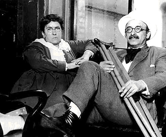 ''Emma Goldman and Alexander Berkman, famous anarchists of the early 20th century, pictured here in New York a year after a 2 year stay in San Francisco.  Photo: Emma Goldman Papers Project''