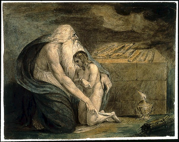 William Blake. Abraham and Isaac