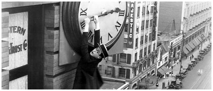 lifeasfiction.com ''Often forgotten amongst Buster Keaton and Charlie Chaplin is silent comedy master Harold Lloyd who, a year before Keaton's special effects bonanza in Sherlock Jr., created a comedy of lively proportions in Safety Last! Most famous for the image of him dangling from a clock atop a Roaring Twenties skyscraper''