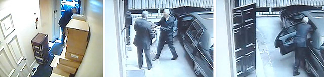 ''One of the most serious charges Black faced was obstruction of justice. A damning video was produced from Hollinger security cameras that showed Black illegally removing thirteen boxes of documents in May of 2005. Black said they carried personal belongings he was retrieving after an order from Hollinger to vacate, but returned the boxes days later and claimed no contents had been removed.''