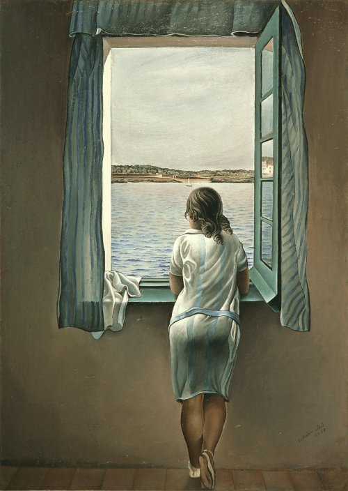 Woman at the Window Salvador Dalí, oil on board (1925)
