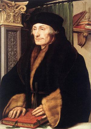 Portrait of Desiderius Erasmus by Hans Holbein