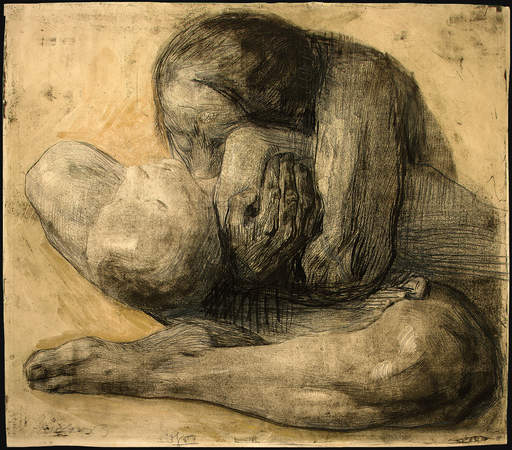 Kathe Kollwitz. Woman with Dead Child