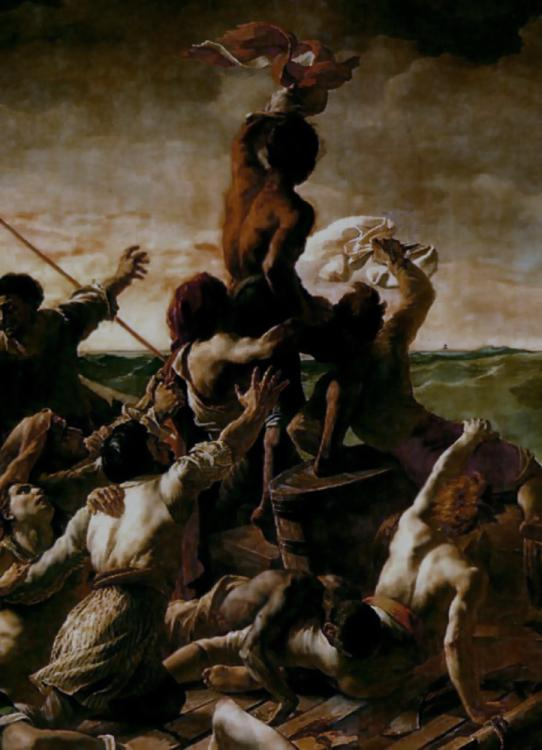 The raft of the Medusa . detail