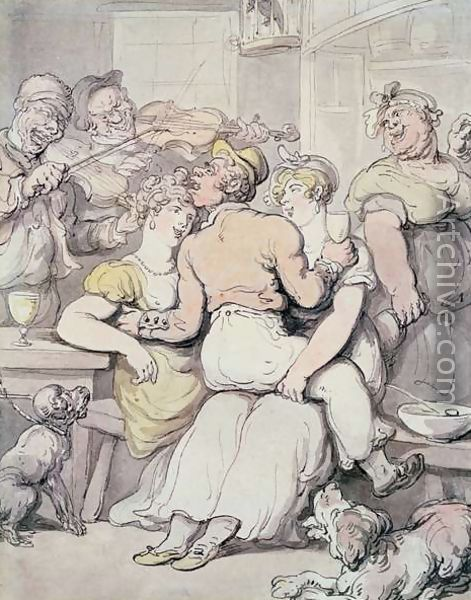 Thomas Rowlandson Painting Title:	Jack Tar Admiring the Fairer Sex