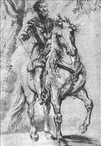 Rubens. Study for the Equestrian Portrait of the Duke of Lerma 1603.