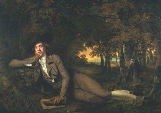 Joseph Wright. Brooke Boothby. ''Brooke Boothby, a Derbyshire landowner and intellectual. Boothby was involved in the thriving literary community of Lichfield in Staffordshire, the birthplace of Samuel Johnson. In 1766-7 Jean-Jacques Rousseau, prophet of the cult of nature, stayed in Staffordshire while in exile from France, and Boothby was part of the enlightened circles in which he was feted. In the late 1770s Boothby visited him in Paris and was presented with Rousseau's autobiography in manuscript in 1780 Boothby published, in Lichfield, the posthumous first French edition of the First Dialogue of Rousseau Juge de Jean Jacques.''