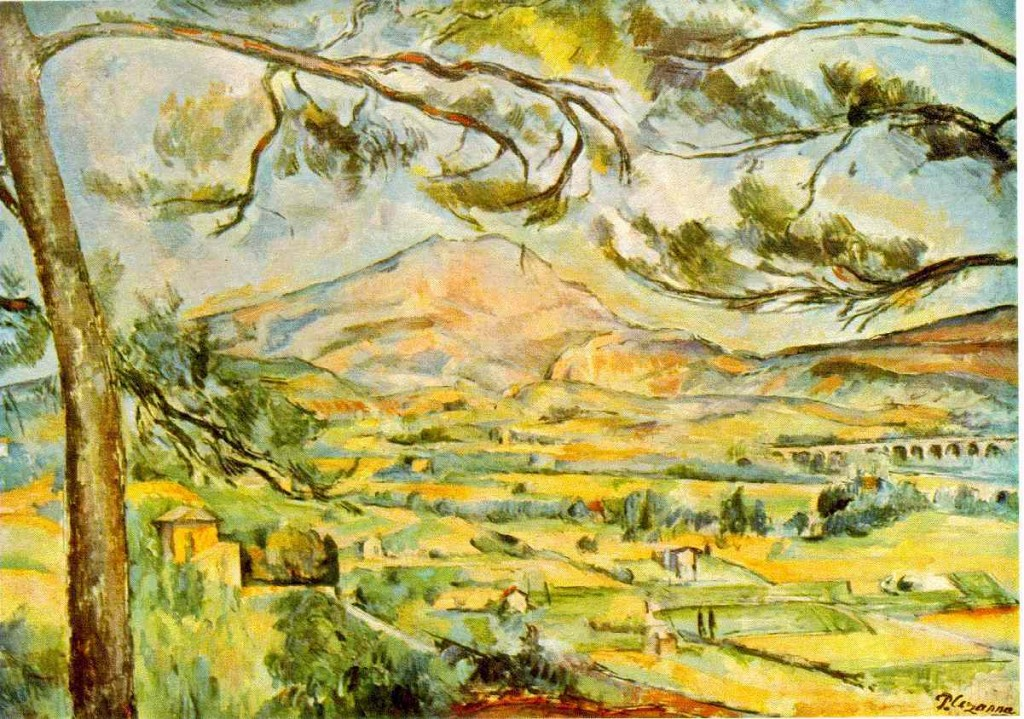 "Mont Sainte-Victoire. ""Therefore, one might imagine that the impressionists in their own way, and in stark contrast to fragmentary science, echoed the views of Husserl in philosophy and culture, and Wittgenstein in linguistic philosophy—that the world is not composed of things, but that all aspects of a broader canvas are interconnected and that this interconnectedness dominates any fertile real thinking about man and the world, not seeing things as separate parts of a mechanical toy, as reductionist science would certainly have us believe."""