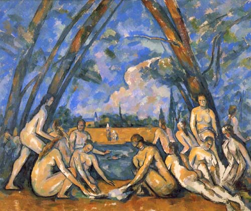 "Paul Cézanne, ""the Bathers (Les Grandes Baigneuses)"", 1894–1905. 127.2 × 196.1 cm. National Gallery, London"