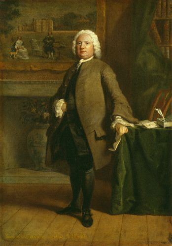 This portrait of Samuel Richardson is one in a series by Joseph Higmore, painted at about the same time Clarissa was published.