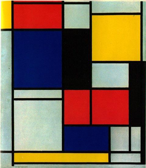 Piet Mondrian-Tableau