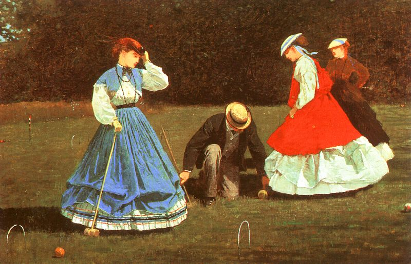 ---The Croquet Game 1866 by Winslow Homer ---click image for source...