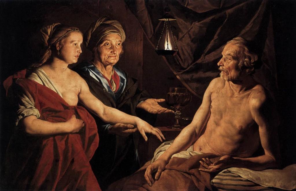 "---""Sarah Leading Hagar to Abraham"" Matthias Stomer - 1637---click image for source..."