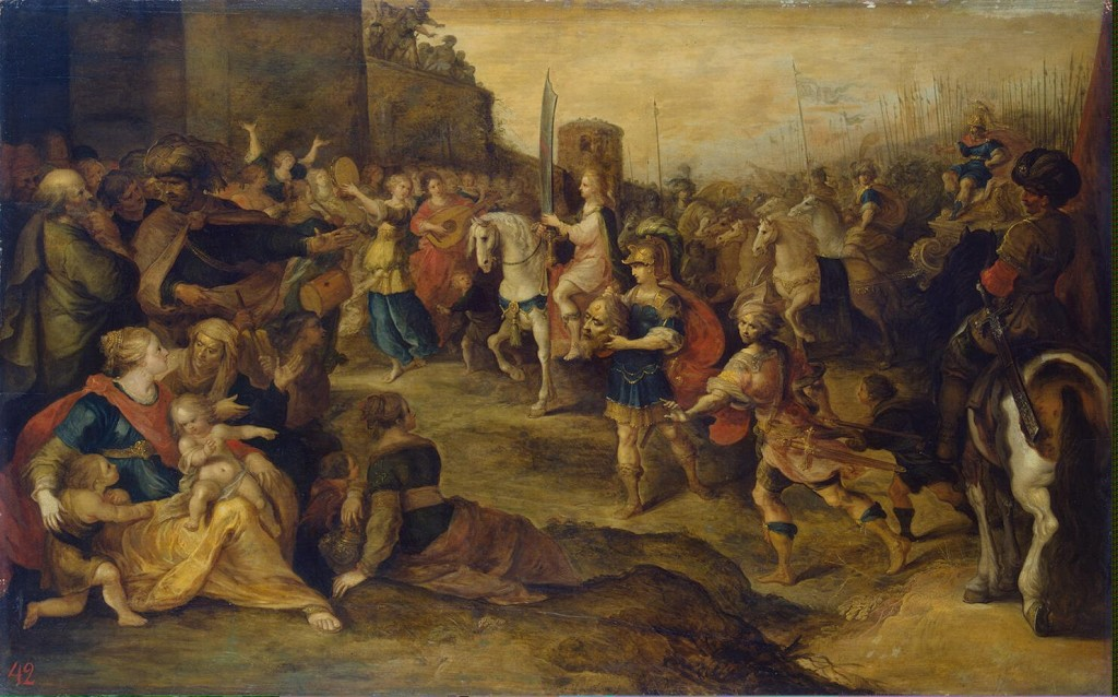 ---Entry of David into Jerusalem Happy Customers 1,366 positive reviews Artist:Francken Frans II Location: Hermitage Museum---