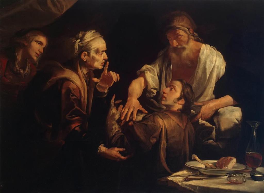 Isaac Blessing Jacob Gioachino Assereto, 1640