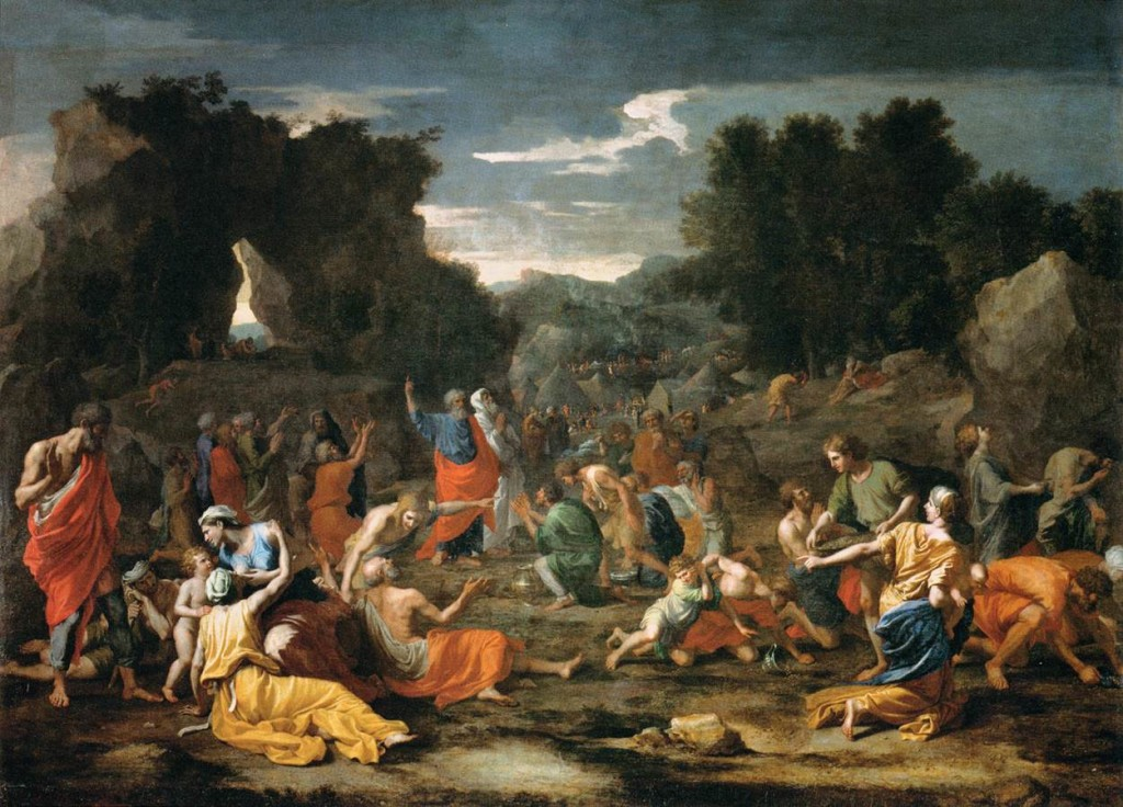 ---Artist  Nicolas Poussin (1594–1665) Link back to Creator infobox template wikidata:Q41554 TitleThe Jews Gathering the Manna in the Desert Datebetween 1637 and 1639---WIKI