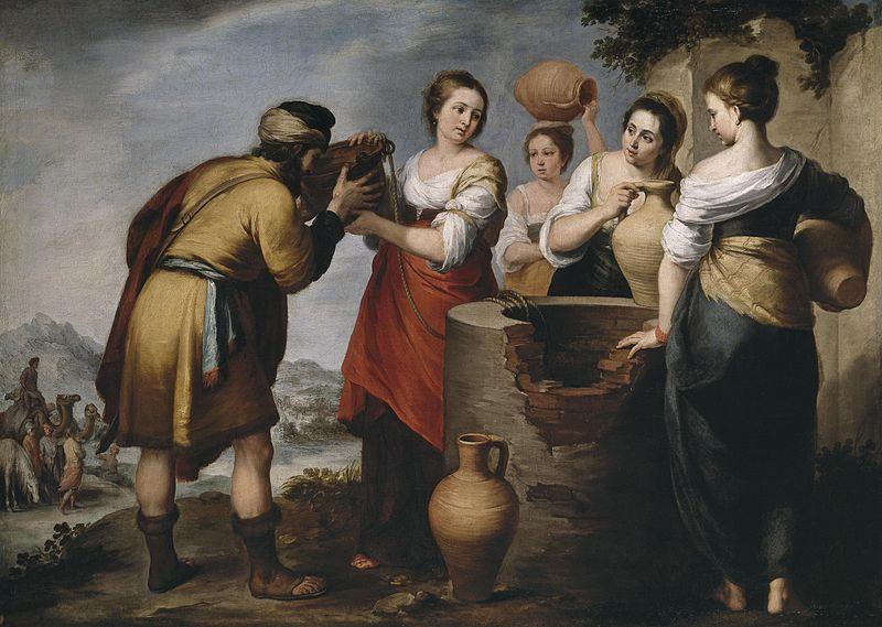 ---Rebecca and Eliezer (painting circa 1652 by Bartolomé Esteban Murillo)---WIKI